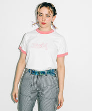 Load image into Gallery viewer, MILLS LOGO S/S RINGER TEE, T-SHIRT, X-Girl