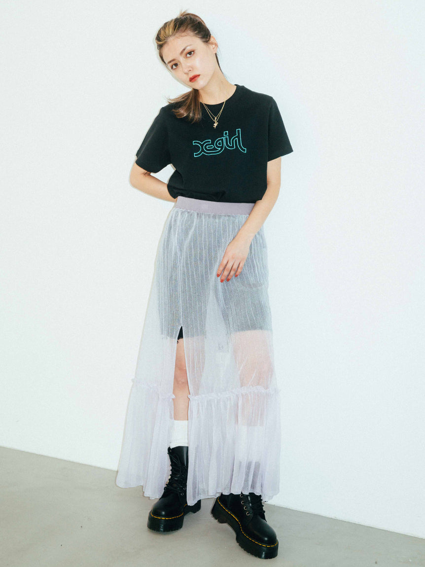 SHEER KNIT SKIRT, SKIRTS, X-Girl