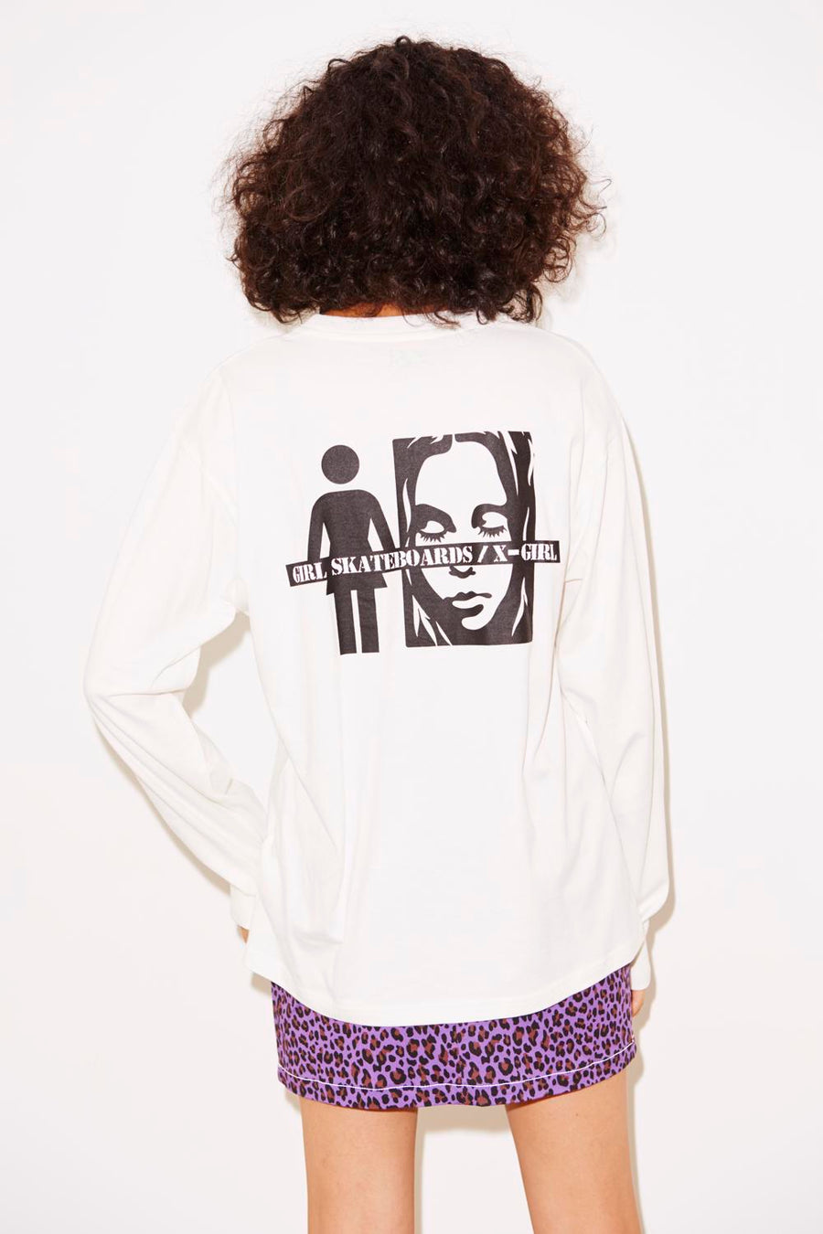 #1 X-girl x GIRL SKATEBOARDS L/S BIG TEE