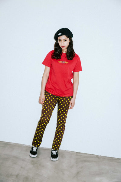 BURNING HEART S/S REGULAR TEE - X-Girl