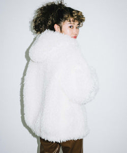 CURLY FUR COAT, OUTERWEAR, X-Girl