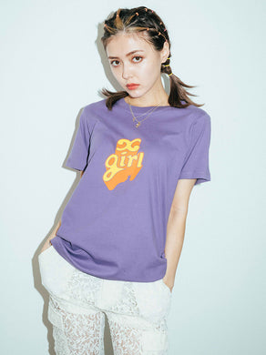 POP OUT LOGO S/S REGULAR TEE, T-SHIRT, X-Girl