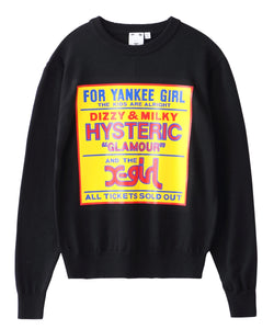 X-girl × HYSTERIC GLAMOUR FOR YANKEE GIRL KNIT TOP, TOPS, X-Girl