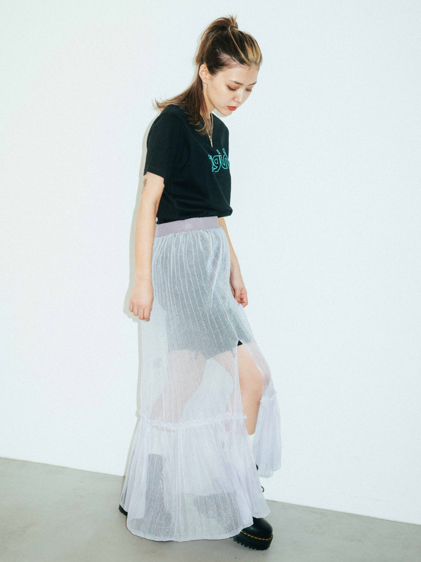 SHEER KNIT SKIRT