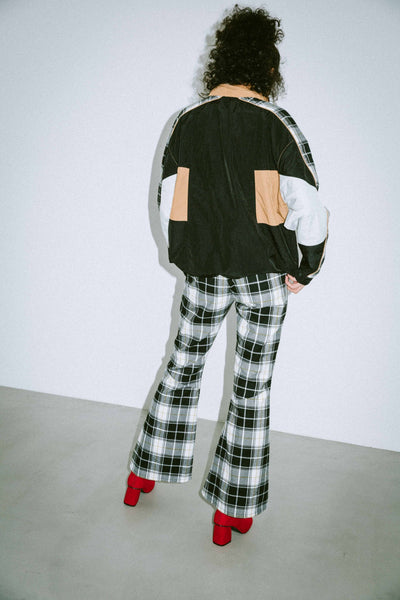 PLAID FLARE PANTS, PANTS, X-Girl