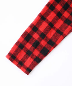 SHAGGY PLAID SHIRRED DRESS, DRESSES, X-Girl