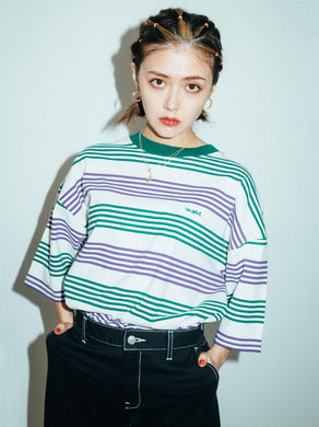 STRIPED H/S TEE, T-SHIRTS, X-Girl