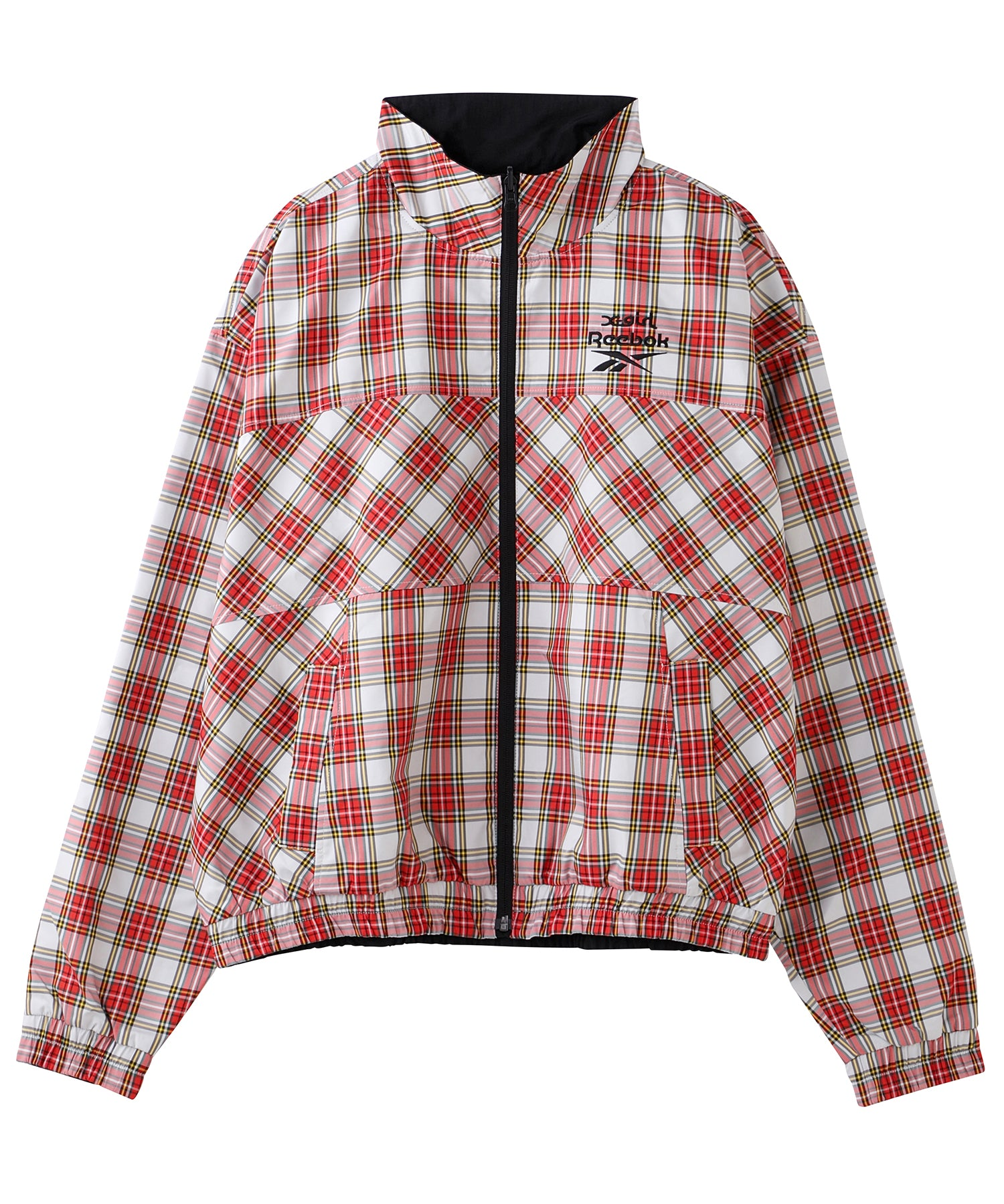 X-girl × Reebok PLAID TRACK JACKET