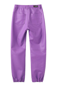 FAUX LEATHER JOGGER PANTS - X-girl