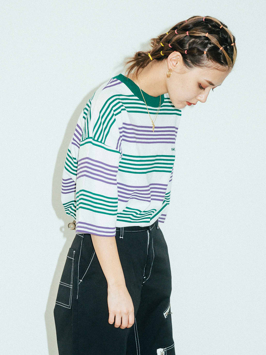 STRIPED H/S TEE 2