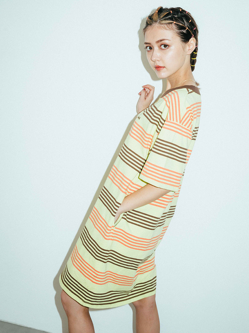 STRIPED H/S TEE DRESS