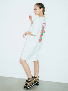 CROSS S/S TEE DRESS, DRESSES, X-Girl