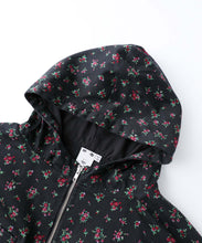 Load image into Gallery viewer, FLORAL HALF ZIP HOODIE, OUTERWEAR, X-Girl