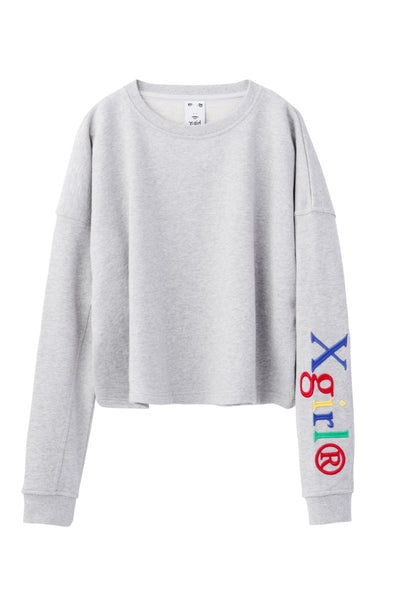 WELL-KNOWN LOGO SWEAT SHORT TOP, SHIRTS, X-Girl