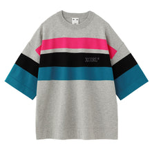 Load image into Gallery viewer, STRIPED KNIT H/S TOP, SHIRTS, X-Girl