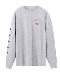 BOX LOGO POCKET REGULAR L/S TEE, T-SHIRT, X-Girl