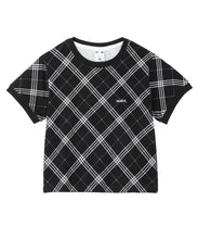 Load image into Gallery viewer, BIAS PLAID S/S TEE, TOPS, X-Girl
