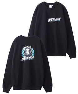 #1 FLOWER CREW SWEAT TOP, HOODIES & SWEATERS, X-Girl