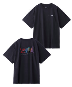EMBROIDERY MILLS LOGO S/S MENS TEE, T-SHIRT, X-Girl