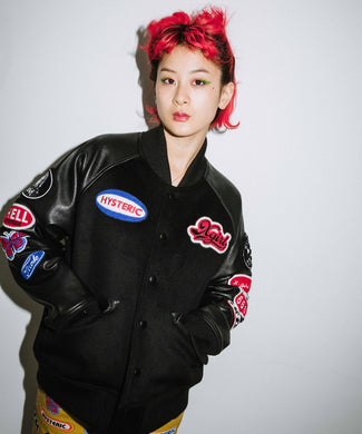 X-girl x HYSTERIC GLAMOUR VARSITY JACKET, OUTERWEAR, X-Girl