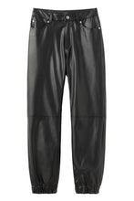 Load image into Gallery viewer, FAUX LEATHER JOGGER PANTS, PANTS, X-Girl