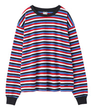 Load image into Gallery viewer, STRIPED L/S TEE, C&S, X-Girl
