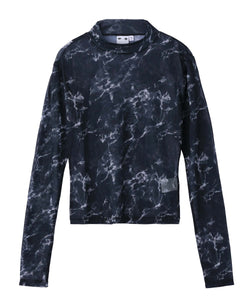 MARBLE MESH L/S TOP, TOPS, X-Girl