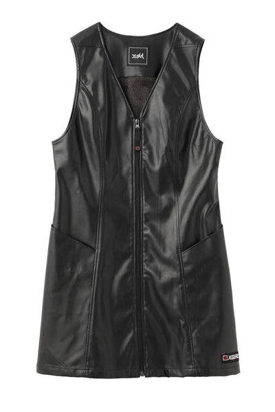 FAUX LEATHER RETRO DRESS, DRESSES, X-Girl