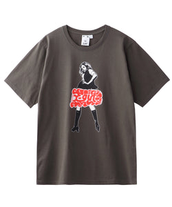 X-girl × HYSTERIC GLAMOUR FLARE LOGO S/S TEE, T-SHIRT, X-Girl