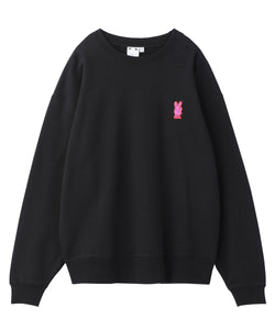 BUNNY EMBROIDERY CREW SWEAT TOP, HOODIES & SWEATERS, X-Girl