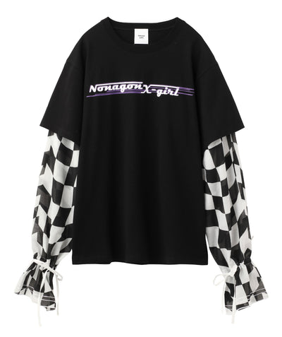X-girl x NONA9ON LAYERED LOOK TEE, T-SHIRTS, X-Girl