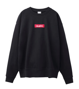 BOX LOGO CREW SWEAT, HOODIES & SWEATERS, X-Girl