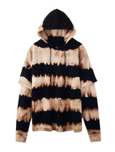 Load image into Gallery viewer, TIE DYE LAYERED SWEAT HOODIE - X-girl
