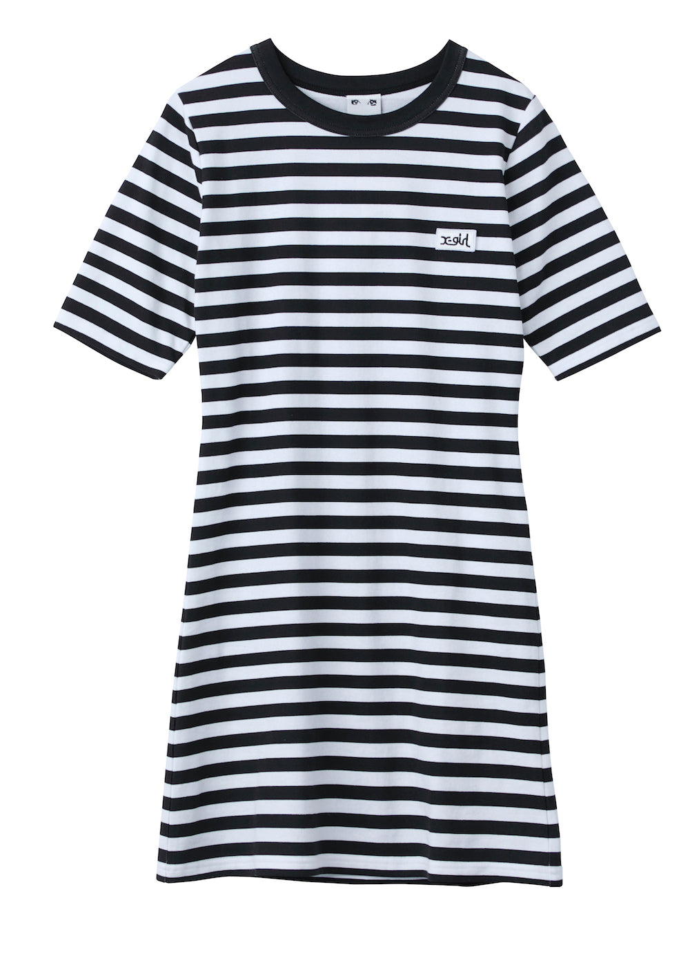 STRIPED BASIC TEE DRESS - X-Girl