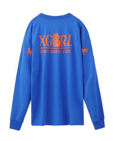 RIDING CLUB L/S BIG TEE, T-SHIRTS, X-Girl