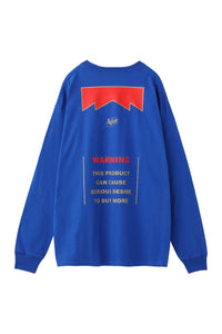 WARNING L/S BIG TEE, T-SHIRT, X-Girl