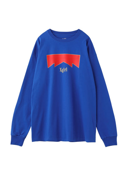 WARNING L/S BIG TEE, T-SHIRTS, X-Girl