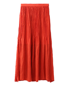 PLEATED CHIFFON LONG SKIRT, SKIRT, X-Girl