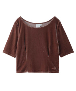 VELOUR S/S TOP, TOPS, X-Girl