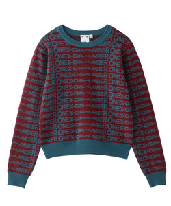 #1 JACQUARD KNIT TOP, TOPS, X-Girl