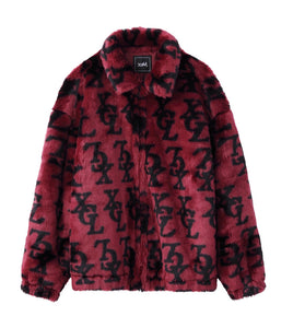 MONOGRAM FUR COACH JACKET - X-girl