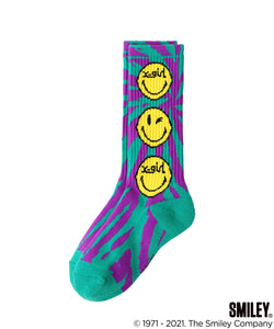 X-girl × CHINATOWN MARKET SMILEY JACQUARD RIB SOCKS