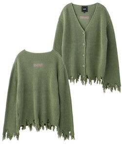 COTTON KNIT CARDIGAN, TOPS, X-Girl