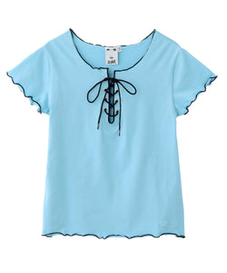 LACE-UP TEE, TOPS, X-Girl