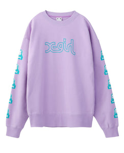 FACE CREW SWEAT TOP, HOODIES & SWEATERS, X-Girl