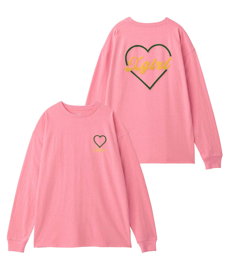 HEART L/S BIG TEE, T-SHIRTS, X-Girl