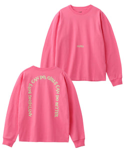 LETTERS L/S REGULAR TEE, T-SHIRT, X-Girl