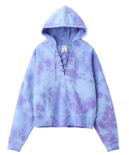 Load image into Gallery viewer, BLEACHED LACE UP SWEAT HOODIE - X-girl