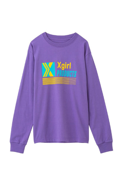 XGIRL PRODUCTS L/S REGULAR TEE, T-SHIRTS, X-Girl