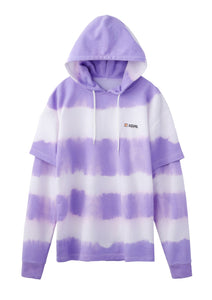 TIE DYE LAYERED SWEAT HOODIE - X-girl